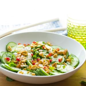 CRUNCHY CUCUMBER & PEANUT SALAD WITH A RICE-WINE VINAIGRETTE