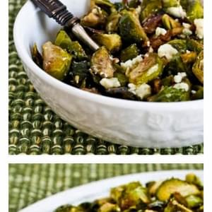 Roasted Brussels Sprouts with Pecans (with or without Gorgonzola Cheese)