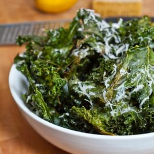 Crispy Kale Chips with Lemon & Parmesan