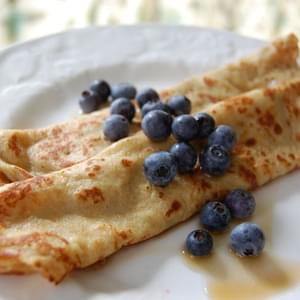 Whole-Wheat Crepes (for breakfast or dessert!)
