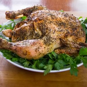 Simple Herb Lemon Garlic Roast Chicken