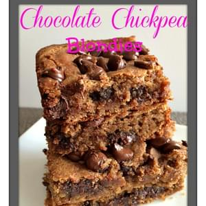 Chocolate Chickpea Blondies