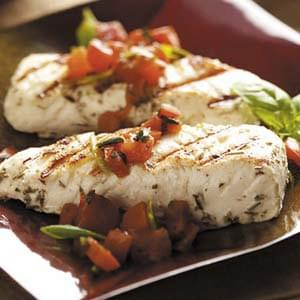 Halibut with Tomato Basil Salsa