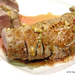 Pan Seared Oven Roasted Pork Tenderloin