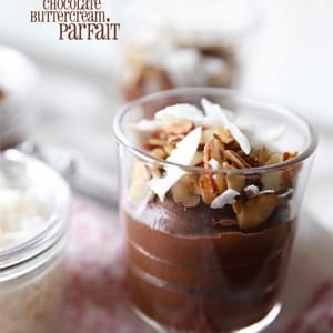 Almond Joy Chocolate Buttercream Parfait