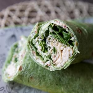 Chicken, Spinach and Cream Cheese Tortilla Wrap