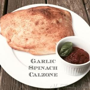 Spinach and Garlic Calzone