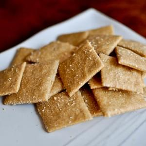 Easy Cheesy Whole Wheat Crackers