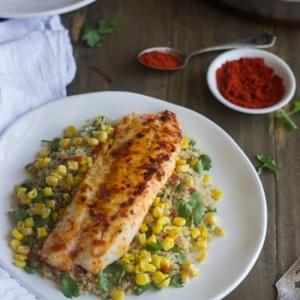 Cilantro Time Tilapia {GF, Low Fat, High Protein + Super Simple}