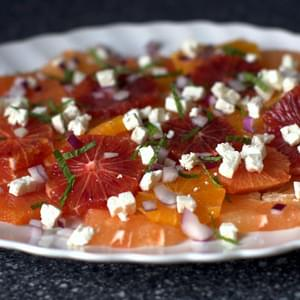 Mixed Citrus Salad with Feta, Onion and Mint