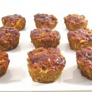 Skinny Meatloaf Muffins with Barbecue Sauce