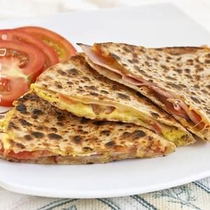 Gluten-Free Ham and Cheese Breakfast Quesadillas