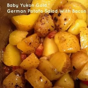 Warm German potato salad-A classic for Fall