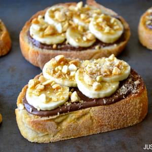Banana and Nutella Dessert Bruschetta