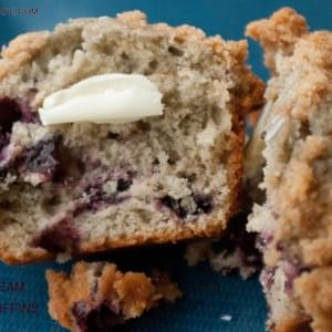Sour Cream Cherry Muffins
