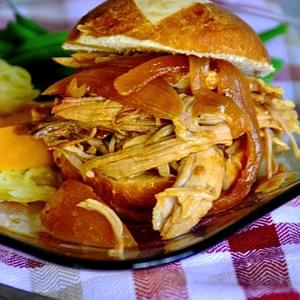 Pulled Pork Sliders with Carolina Gold Barbecue Sauce