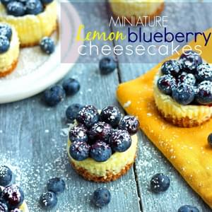 Mini Lemon and Blueberry Cheesecakes