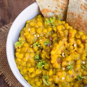 Easy Chana Dal with Coconut Quinoa Flatbreads