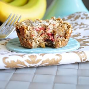 Strawberry Banana Baked Oatmeal
