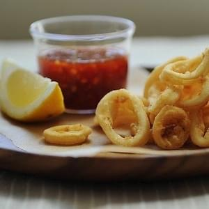 Rings Of Squid With Sweet-Spicy Sauce