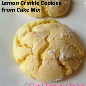 Lemon Crinkle Cookies from Cake Mix