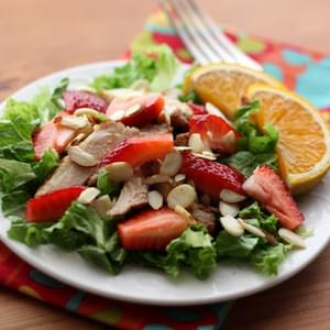 Strawberry Chicken Salad with Warm Orange Vinaigrette