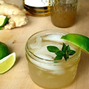 Whiskey Ginger with Lime