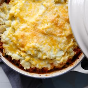 Mashed Cauliflower Shepherd's Pie