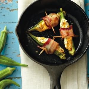 Cheese And Bacon Okra Poppers