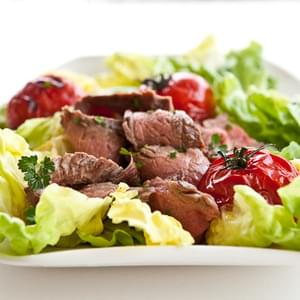 Grilled Steak and Tomato Salad with Rum Vinaigrette