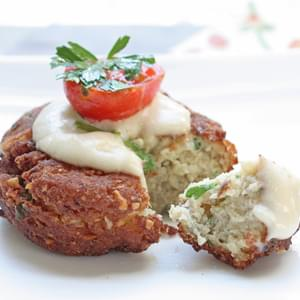 Low Carb Falafel with Tahini Sauce (Gluten Free)