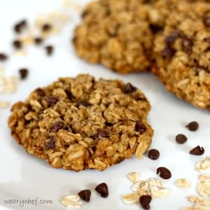 Flourless Cookies with Chocolate Chips and Oatmeal (and eggless too!)