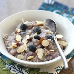 Blueberries and Cream Almond Oatmeal