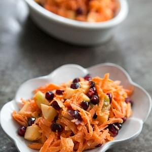 Jeweled Carrot Salad with Apple and Pomegranate