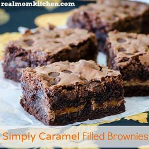 Simply Caramel Filled Brownies