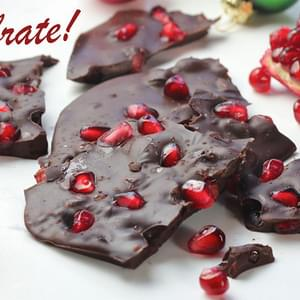 Dark Chocolate Pomegranate Bark