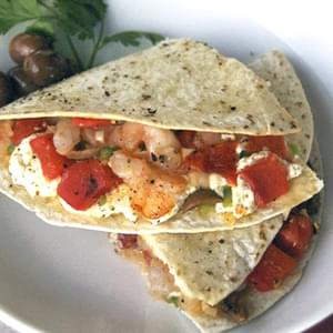 Shrimp & Goat Cheese Quesadillas