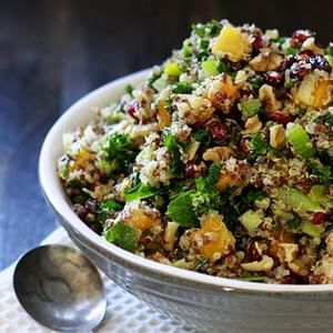 Butternut Squash and Kale Quinoa Stuffing