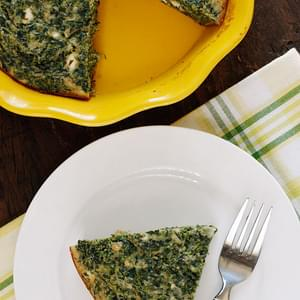 Easy Crust-less Spinach and Feta Pie
