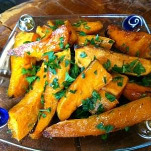 Easy Roasted Sweet Potato Wedges