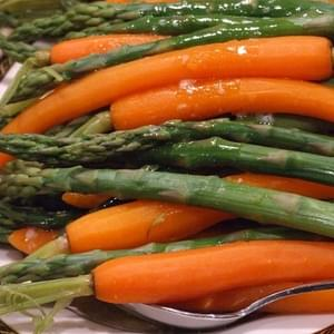 Asparagus & Carrots w/ Maple- Butter Sauce