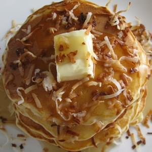 Smashed Raspberry Chocolate Chunk Pancakes Recipe