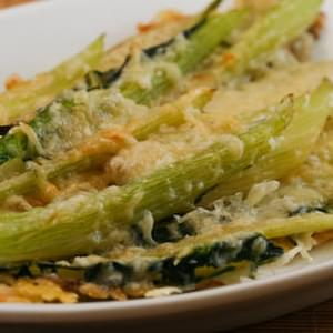 Baked Swiss Chard Stems with Olive Oil and Parmesan