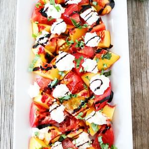 Tomato, Peach, & Burrata Salad