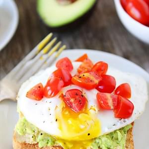 Hummus, Avocado, and Egg Toasts