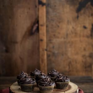 Chocolate Beet Cupcakes with Chocolate Mascarpone Frosting (+ Grain Mill Giveaway!)