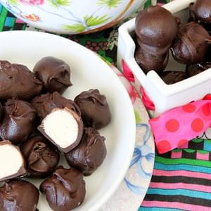 No-Bake Vanilla Cake Batter Chocolate Truffles