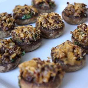 Spicy Sausage Stuffed Mushrooms