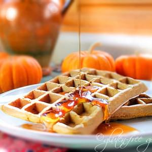 Karina's Gluten-Free Pumpkin Waffles