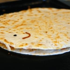 Refried Bean Quesadillas – 5 Minute Meal